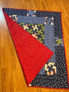 """Quilt """"Blueberry picnic"""" red with stars back, custom designed homemade 60"""" x 68"""" Toaster Cover, Welcome Home Gifts, Homemade Quilts, Mug Cozy, Bachelorette Gifts, Babies First Christmas, Monogram Letters, Fabric Patterns, Warm And Cozy"""