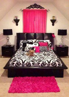 bedroom ^_^ #pinkandblack
