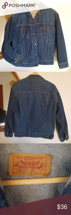 0a4be6d2d24 Vintage Levi's Strauss Indigo Denim Jacket Jean L Levis denim jacket !  Vintage style fit in