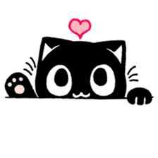 mew mew blacky 4 by JOJO sticker Cute Cartoon Images, Cute Cartoon Wallpapers, Book Drawing, Cat Drawing, Cute Cat Wallpaper, Cat Tattoo Designs, Baby Sewing Projects, Cute Animal Drawings, Line Sticker