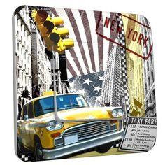 Interrupteur déco NY Taxi 01 simple