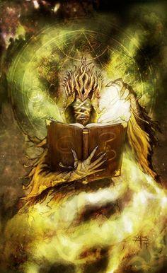 """El Rey de Amarillo leyendo """"El Rey de Amarillo"""", un espantoso y enloquecedor bucle"""