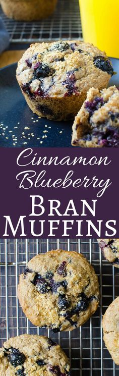 This easy recipe for Cinnamon Blueberry Bran Muffins, uses a breakfast cereal soaked in almond milk to create the most heavenly breakfast treat!
