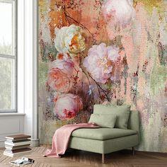 Colorful színes design tapéta nagy virágokkal (vlies, 200 x 280 cm) Interior Color Schemes, Colour Schemes, Interior Design, Study Design, Wall Design, Blooming Rose, Home Wallpaper, Colorful Wallpaper, Rose Cottage