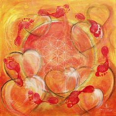 Herz-Kreislauf-System, Element Feuer, Malerei von Hans-Jakob Bopp - Kreavitalis