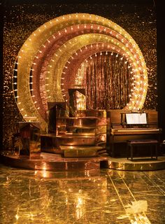 Beautiful gold sequin wall for set and stage design for Aint Misbehaving Production 2019 Mercury Theatre Sequin Wall, Sequin Backdrop, Stage Set Design, Set Design Theatre, Gold Set Design, Talent Show, Corporate Event Design, Art Deco, Scenic Design