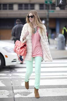 [FW12 New York Fashion Week] Favourite look # 7 (Neon and pastels in the look of Chiara Ferragni)