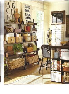 Pottery Barn Desks And Office | Images from Pottery Barn 2012 catalog via my scanner