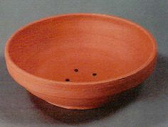 """These """"olde world"""" heavy clay bowls have been in use for centuries. The clay holds body weight and keeps the eggs and young warm. They are 9 1/2"""" in diameter and 2 1/4"""" deep. Vent holes in the bottom. Works well with the Belgium nest pad."""