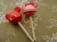 mickey and minnie lollipops.   LUUUX