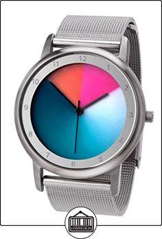 Rainbow e-motion of color  Avantgardia - Reloj de cuarzo unisex, con correa de acero inoxidable, color plateado de  ✿ Relojes para hombre - (Gama media/alta) ✿