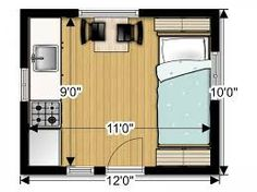 tiny house floor plans 10x12 - Google Search | She shed | Pinterest ...
