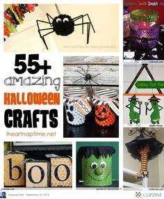 55+ amazing halloween craft ideas (halloween, theme, ideas, inspiration, decor, decoration, home, house, garden, party, scary, spooky, crafts, do it yourself, DIY, easy, cheap)