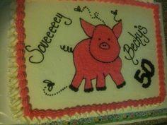 Beckys 50th Birthday Cake
