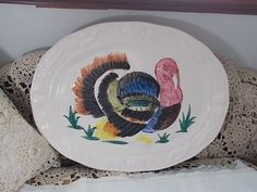 Turkey Platter Platter Turkey Platter Transfer Ware