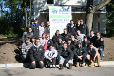 The Lumberjacks helping build a house for Habitat for Humanity