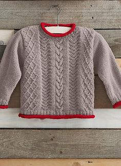 Ravelry: 802 - Cable Sweater pattern by Bergère de France Baby Sweater Knitting Pattern, Knit Baby Sweaters, Cable Sweater, Baby Knitting Patterns, Sweater Patterns, Knitting For Kids, Free Knitting, Pull Bebe, Wool Shop