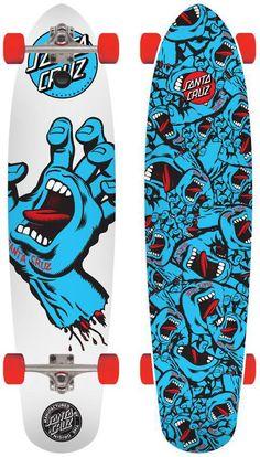 santa+cruz+scream+longboards | Santa Cruz Screaming Hand Cruzer Complete