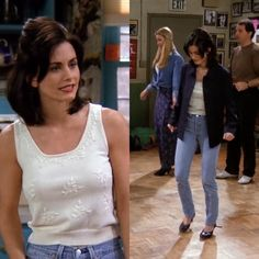 10 Outfits Monica Wore On Friends That We Still Can't Get Over Monica Geller tends to be overlooked when it came to fashion on Friends, so here is a list of 10 outfits Monica wore that we still can't get over! Estilo Fashion, Fashion Tv, Thrift Fashion, Look Fashion, Ideias Fashion, Fashion Outfits, Friends Tv Show, Friends Mode, Rachel Green Outfits