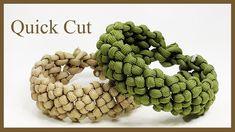"""Paracord Bracelet: Wide """"Cross Knot"""" Bracelet Design - Quick Cut"""