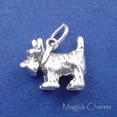 Sterling Silver .925 SCOTTISH TERRIER DOG Toto WIZARD Of OZ 3D Charm