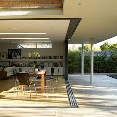 Nano walls... these doors stack all the way to one side to truly blur indoor/outdoor living.