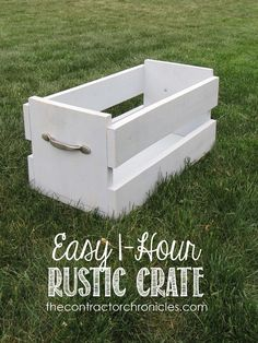 DIY Easy One Hour Rustic Crate. Great home decor project.