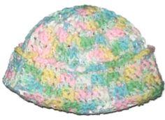 Cuffed Cutie Hat Young Girl's Crochet Hat by amydscrochet on Etsy