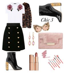 """""""Chic 3"""" by bmackler on Polyvore featuring Dolce&Gabbana, Carelle, Bdellium Tools, Dries Van Noten and Charlotte Tilbury"""