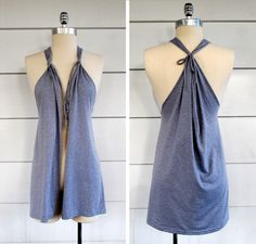 DIY No sew tshirt up cycle to vest tutorial - asum!