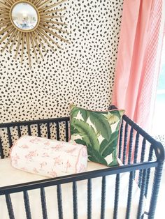 Palm Beach Inspired Nursery - love the girly details!