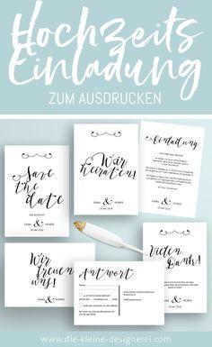 HochzeitsPapeterie zum Ausdrucken pdf downloaden und