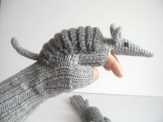 Original Design Cute Armadillos  gloves