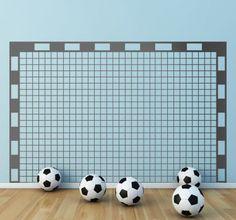 Fußballtor Wanddekoration