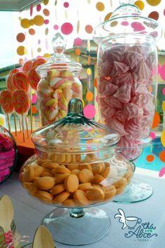 Suspiros, Marshmallows, Pirulitos e Chicletes Yellow, Orange and Pink Party Festa Amarela, Laranja e Rosa