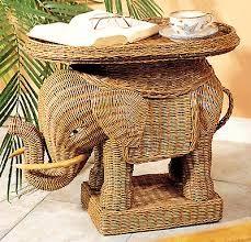 Wicker Elephant Table   Google Search