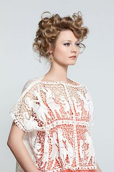 lacy anthropologie top.