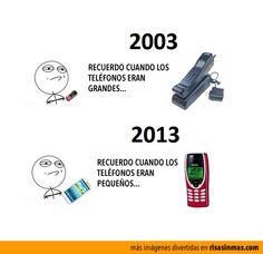 Recuerdo cuando los teléfonos eran grandes.