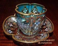 OK.RU Vintage Cups, Vintage Pyrex, Teapots And Cups, China Tea Cups, My Cup Of Tea, Tea Cup Saucer, Tea Time, Pottery, Tea Sets