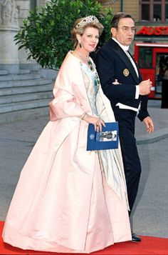 King Constantine & Queen Anne Marie of Greece attends A Performance of The Dramatic Theatre in 1996's.