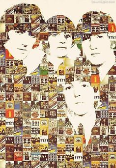 Beatles Albums Collage