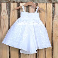 Βαπτιστικό Φόρεμα Κοφτό Celia Kritharioti.