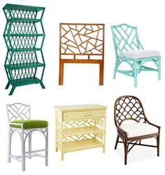 Painted rattan. Patio furniture, I am coming for youuuuuu.