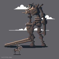 """Pixels of the Colossus"" tee is just $17 at the yeteemart!"