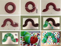 Tutorial gâteau facile pour réaliser La chenille qui fait des trous ! / My tutorial cake : The angry caterpillar ! #GâteauEnfants #ChildrenCake
