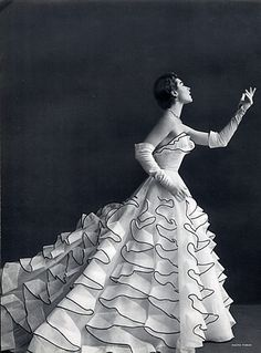 Jacques Heim dress, photo Tobias, 1953.