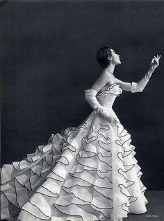 Jacques Heim dress, photo Tobias, 1953.