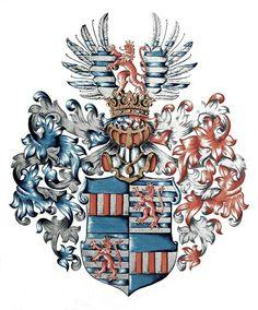 Wappen derer Recke von der Horst / Coat of Arms of The Family Recke von der Horst / Armas de la Familia de Recke von der Horst.