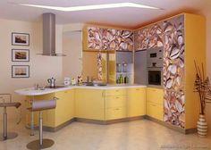 Modern yellow kitchen