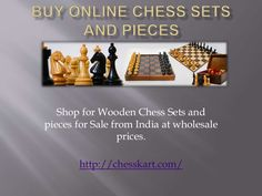 Buy Staunton Chess Sets, Online and Wooden Chess pieces. #MagneticChessSets, #woodenchesspieces, #BoneChessPieces,  #BrassChessPieces, #HandCarvedChessPieces http://www.slideshare.net/chesskart/chess-sets-and-pieces
